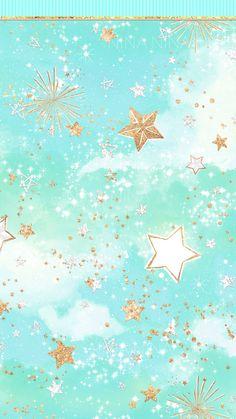 Star Wallpaper, Glitter Wallpaper, Cute Wallpaper Backgrounds, Pretty Wallpapers, Iphone Wallpaper, Pastel Galaxy, Pastel Sky, Galaxy Art, Sky Digital