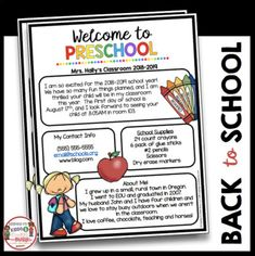Preschool Newsletter – Meet the Teacher – Open House – Back to School Welcome to Preschool! This editable newsletter is the perfect way to invite your students and parents to Open House or Meet the Teacher. You can also send it home on the first day of sc Preschool Welcome Letter, Teacher Welcome Letters, Welcome To Kindergarten, Letter To Teacher, Letter To Parents, Preschool Letters, Parents As Teachers, Busy Teachers, Preschool First Week
