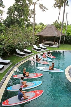 Learn SUP yoga techniques by our expert coach whilst on retreat.