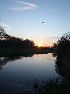 "Sunrise at heritage site ""de stelling van Amsterdam"", De Kwakel, The Netherlands"
