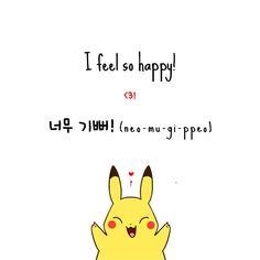 "Learn Korean: ""I feel so happy!"" O(≧▽≦)O"