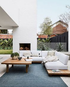 If you are looking for Outdoor Living Spaces, You come to the right place. Here are the Outdoor Living Spaces. This post about Outdoor Living Spaces was posted under. Outdoor Areas, Outdoor Rooms, Outdoor Sofa, Outdoor Decor, Modern Outdoor Fireplace, Outdoor Living Spaces, Outdoor Lounge Furniture, Outside Furniture Patio, Corner Sofa Outdoor