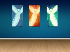 "Leinwand 3- Set  "" Engel sind immer unter uns"" von Heavensblue Photography auf DaWanda.com"
