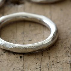 Distressed sterling silver ring from Praxis Jewelry