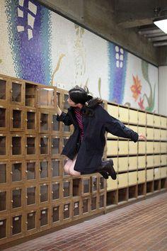 Levitating girl Natsumi Hayashi