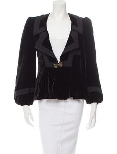 Anna Sui Velvet Double-Breasted Jacket