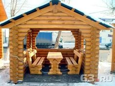 Wooden Summer House, Gazebo, Pergola, Outdoor Structures, Cabin, House Styles, Home Decor, Wood, Kiosk