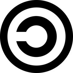 Copyleft symbol is used in opposition to copyright to indicate that a software remains freely avaidable Copyright Symbol, Copyright Law, Public Domain Books, Software Libre, Feminist Books, Small Letters, Music Lessons, Music Education, Book Design