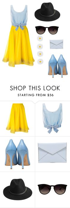 """""""Missing summer"""" by estherbel ❤ liked on Polyvore featuring Manish Arora, Honor, Semilla, Rebecca Minkoff, BeckSöndergaard, Ray-Ban, Monsoon, women's clothing, women and female"""