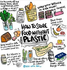 Low waste living Easy hacks to store your food plastic free and give your produce longer life. Live zero waste for low impact on our environment Reduce Reuse Recycle, How To Recycle, Plastic Waste, Plastic Recycling, Plastic Wrap, Plastic Bags, Recycling Storage, Plastic Film, Sustainable Living