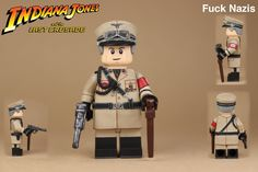 Lego Soldiers, Lego Ww2, Lego Titanic, Lego Decals, Lego Indiana Jones, Amazing Lego Creations, Lego Figures, Lego Design, Lego Harry Potter