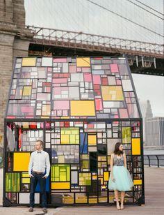 glasshouse Brooklyn Bridge Anniversary | Tulle Skirt | NYC Wedding | Destination Wedding | Gray & Turquoise | Dumbo Wedding | Tulle & Grace Photography | www.tulleandgrace.com