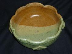 Handmade Pottery Stoneware Bowl Scalloped by PotteryLaceNautical