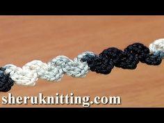 Spighette all'uncinetto Crochet Cords tutorial Parte 2 Livello avanzato - YouTube