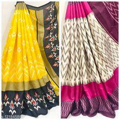 Sarees IKKAT PRINT KHADI BLENDED SAREE PACK OF 2 Saree Fabric: Khadi Silk Blouse: Running Blouse Blouse Fabric: Khadi Silk Pattern: Printed Blouse Pattern: Printed Multipack: Pack of 2 Sizes:  Free Size Country of Origin: India Sizes Available: Free Size   Catalog Rating: ★4.3 (266)  Catalog Name: Kashvi Refined Sarees CatalogID_2332139 C74-SC1004 Code: 226-12184588-0261