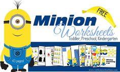 FREE printable Minion worksheets