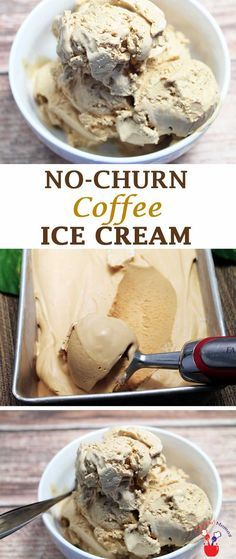 Love ice cream? No ice cream maker? No problem! This easy one-step no-churn coffee ice cream recipe makes the creamiest treat you have ever tasted! via @2CookinMamas