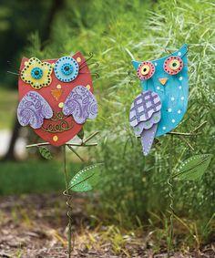 Bright Companion Owl Stake Set
