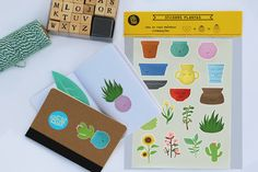 Autocolantes - Plantas; by Pinfas Floral Illustrations, Plastic Cutting Board, Stickers, Plants, Flower Artwork, Decals