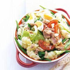 Zomersalade met tonijn. Heerlijke maaltijdsalade!