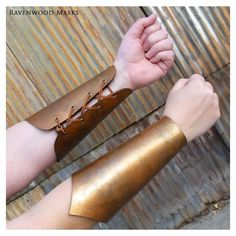 Items similar to Leather bracers - armor - costume - knight - ranger -... ❤ liked on Polyvore featuring costumes, accessories, fantasy, warrior halloween costume, santa elf costume, elf costume, christmas elf costume and steampunk costume