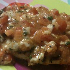Amazing Brushetta chicken I made, super simple:)