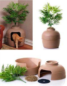 Faux Plant Litter Box