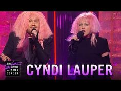 "Cyndi Lauper And James Corden Sing 'Girls Just Want Equal Funds'...""If you ask us out on a date, oh boys, be ready to pay, we'll pick up the check when we make the same!"""