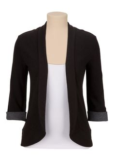 Rolled Sleeve Open Front Cardigan - maurices.com