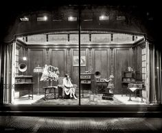 Department store window display of Atwater Kent radio equipment circa 1928 in Washington, D.C.  Amazing!