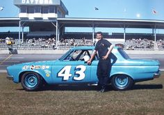 Daytona 63. Young Richard Petty. He would win one year later with the mighty Hemi engine, 2nd came Paul Goldsmith and third Jimmy Pardue. Three Plymouths!| Flickr
