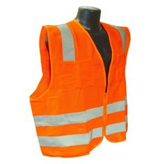 Radians Hi Vis Orange Mesh Vest Class 2 SV8OM