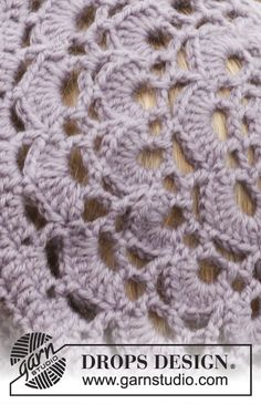 """Victoriana - Set consists of: Crochet DROPS beret and neck warmer in """"Karisma"""". - Free pattern by DROPS Design Crotchet Stitches, Crochet Lace Scarf, Crochet Adult Hat, Bonnet Crochet, Crochet Beret, Free Crochet, Doily Patterns, Stitch Patterns, Crochet Patterns"""