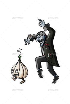 Wicked Vampire Pursuing Garlic