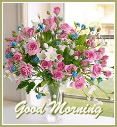 Good Morning Gif, Good Morning Wishes, Good Morning Images, Good Morning Quotes, Beautiful Flowers Pictures, Flower Pictures, Birthday Wishes Flowers, Morning Greeting, Mornings