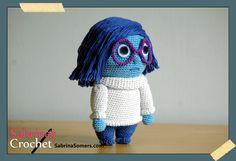 Sadness Inside Out Free Amigurumi Crochet Pattern