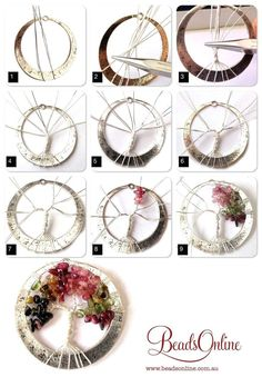 Tourmaline Tree of Life step-by-step - gnarlyhair Tourmaline Tree of Life step-by-step Schmuck im Wert von mindestens g e s c h… Looking for some DIY tree of life ideas? If you want to make art, crafts and even jewelries that are inspired with the tree Bijoux Wire Wrap, Wire Wrapped Jewelry, Wire Jewelry, Jewlery, Wire Earrings, Silver Jewelry, Jewelry Armoire, Wire Crafts, Bead Crafts