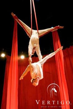 Aerial silk DUO | Vertigo – aerial acrobatic show
