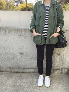 JOURNAL STANDARD relume WOMENのミリタリージャケットを使ったhimarisoさんのコーディネートです。│