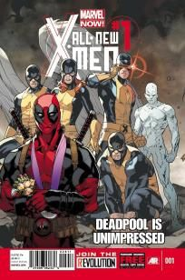 All New X-Men #1 Deadpool Is Unimpressed Not Impressed variant cover ---> shipping is $0.01 !!!