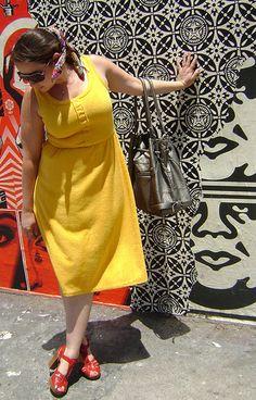 @Melissa Massello DuBeau wearing a swapped dress.