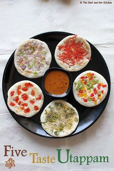 THE CHEF and HER KITCHEN: Five Taste Uthappam | Uthappam Toppings ideas