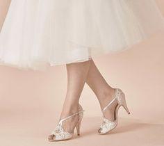 Wedding Shoe Charlotte In Ivory Lace - wedding fashion