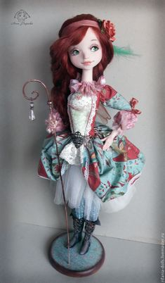 Купить Мирабель - морская волна, фея, коллекционная кукла, ручная работа, оригинальный подарок, ЛивингДолл