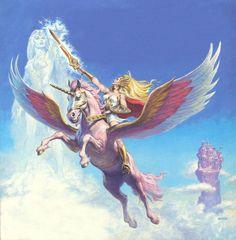 She-Ra Princess of Power & the Sorceress of Eternia. Art by Earl Norem. Catwoman, Marvel Dc, Robert E Howard, 1980 Cartoons, Super Adventure, 3d Fantasy, Fantasy Artwork, She Ra Princess Of Power, Universe Art