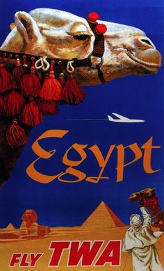 Aviation Travel Poster.Egypt.Camel.Wall Art Decor.Wall Home Interior Design.1370