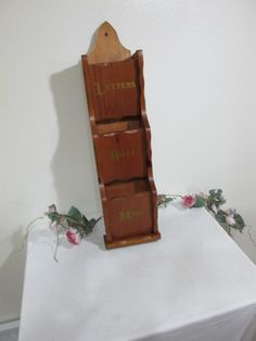 Letter Holder Mail Organizer Wood Wall Hanging by LuRuUniques on Etsy
