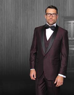 e4094f153dc Price tracker and history of Custom made Men Slim Fit suits Black Lapel  mens Blazer for wedding Groomsmen Tuxedos Best Men Suits Jacket +Pants+Tie+Vest