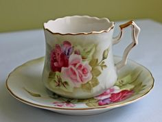 Vintage Porcelain Demitasse Teacup and by AnythingDiscovered, $32.00