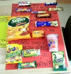 Přání ke Dni matek ze sladkostí Snack Recipes, Snacks, Pop Tarts, Candy, Ideas, Tapas Food, Sweet, Appetizer Recipes, Appetizers